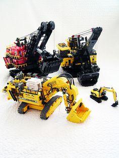 All my Lego excavators