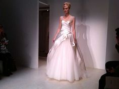Satin and tulle ballgown by Kenneth Pool