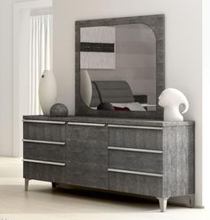 Elite Grey Birch Chest of Drawers Or Dressing Table Optional Mirror