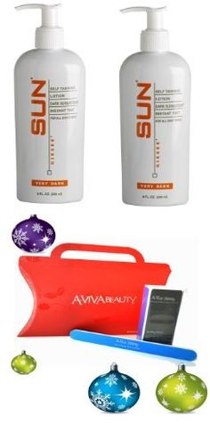 Sun x2 Giesee Dark Sunsation Self-Tanner Lotion Very Dark 8oz (20029) + Aviva Red Nail kit by Sun Laboratories. $56.99. The lot includes:. 2 Sun Giesee Dark Sunsation Self-Tanner Lotion Very Dark 8oz. 1 Aviva Red Nail Kit: 1 nail buffer, 1 nail file, 1 red box. Dark Sunsation Self-Tanner Lotion:An instant dose of darkest shade tan color that intensifies within three hours of application. With natural ingredients, it also helps to moisturize and protect the body wit...