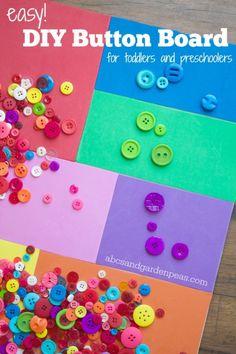 Easy Button Board Toddler and Preschooler Activity