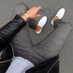 Sneakers Outfit Men Casual Clothes 27 New Ideas Mode Masculine, Mode Outfits, Casual Outfits, Casual Clothes, Casual Shoes, Men Clothes, Tweed Pants, Suit Pants, Men Pants