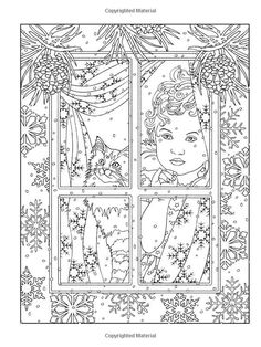 color Cat Coloring Page, Animal Coloring Pages, Coloring Book Pages, Printable Coloring Pages, Coloring Sheets, Zentangle, Creative Haven Coloring Books, Christmas Coloring Pages, Mandala Coloring