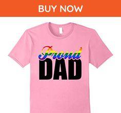 Mens proud dad rainbow gay pride flag lgbt homo gaydar t-shirt XL Pink - Relatives and family shirts (*Amazon Partner-Link)
