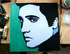 Here's a painting of Elvis Presley I did over the summer. It was part of a gallery art show in August. What do you think? http://www.poprockartstudio.com/2012/11/elvis-presley-pop-art-painting_30.html #ElvisPresley #Elvis #popart #portraits