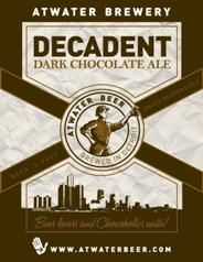 """Atwater Decadent Dark Chocolate Ale ABV """"Beer lovers and Chocoholics unite! It's a decadent Atwater ale that ends with a dark chocolate kiss. Chocolate Beer, Chocolate Crafts, Decadent Chocolate, Best Chocolate, Chocolate Flavors, All Beer, Best Beer, Sweet Alcohol"""