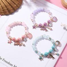 Unique Bracelets, Crystal Bracelets, Stone Bracelet, Pearl Bracelet, Bangle Bracelet, Stone Beads, Stones And Crystals, Kawaii Jewelry, Bow Earrings