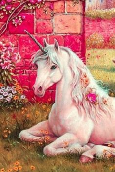This reminds me of my unicorn statue on my alter among my crystals and faeries. Unicorn And Fairies, Unicorn Fantasy, Real Unicorn, Unicorns And Mermaids, Unicorn Art, Magical Unicorn, Rainbow Unicorn, Beautiful Unicorn, Unicorn Pillow