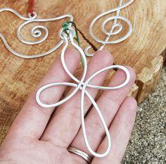 Ornament. Pendant. Silver. Aluminum. Celtic. Cross.. $14.00, via Etsy.