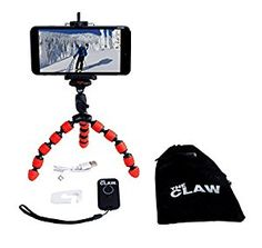 CLAW Flexible Smartphone Tripod with SB Rechargeable Bluetooth 3.0 Remote. *Click Image For Details*.