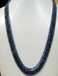200 cts natural Blue Sapphire gemstones beads strands necklace