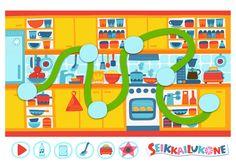 Seikkailukone | tulostettava | paperi | kartta | peli | tehtävä |  keittiö | lapset | game | map | children | kids | free printable | Pikku Kakkonen Creative Kids, Kids Rugs, Games, Free, Creativity, Home Decor, Decoration Home, Kid Friendly Rugs, Room Decor