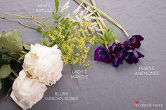 DIY Purple & Blush Centerpiece Ingredients