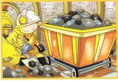 Boberkowy World : Górnicza praca - tygodniowy plan zajęć w przedszkolu z konspektami Holly Pictures, Coal Miners, Gold Rush, Vector Free, Folk, Preschool, Winter, Anime, Stone