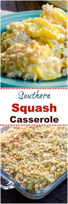 Southern Squash Casserole is a comforting side dish casserole, often served during the holidays, with tender, cooked yellow squash, onions, sour cream and cheddar cheese topped with crushed buttery crackers. Easy Squash Casserole, Southern Squash Casserole, Vegetable Casserole, Casserole Dishes, Casserole Recipes, Squash Caserole, Veg All Casserole, Zucchini Casserole, Cooking Yellow Squash