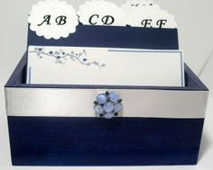 Wedding Guest Box - Blue and White Theme