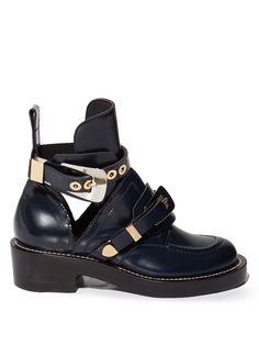 Ceinture cut-out leather ankle boots   Balenciaga   MATCHESFASHION.COM UK