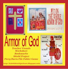 Bible Fun For Kids: Armor of God/lesson with lots of printables/file folder game/ideas