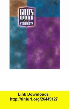 Gods Word for Students Gods Word / Sierra Green Bonded Leather (9780529107299) Wayne Rice , ISBN-10: 0529107295  , ISBN-13: 978-0529107299 ,  , tutorials , pdf , ebook , torrent , downloads , rapidshare , filesonic , hotfile , megaupload , fileserve