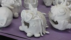 Ceramic pinch pot monsters..MARY! LISA! Look! Our kiln trolls have been reincarnated!