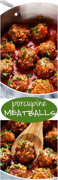and well seasoned meatballs with rice that simmer in a rich tomato sauce. These are the BEST meatballs that you will make!Hearty and well seasoned meatballs with rice that simmer in a rich tomato sauce. These are the BEST meatballs that you will make! Meatballs And Rice, Tasty Meatballs, Pork Meatballs, Meat Recipes, Dinner Recipes, Cooking Recipes, Healthy Recipes, Meatball Recipes, Beef Dishes