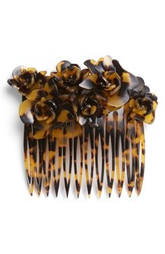 tortoiseshell roses comb
