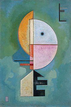 Title: Upward, 1929 Artist: Wassily Kandinsky Medium: Hand-Painted Art Reproduction