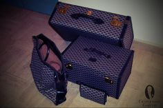 Goyard luggage set