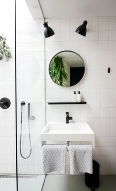 Marie-Stella-Maris - sleek black and white bathroom design