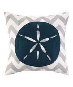 Look at this #zulilyfind! Zigzag Sand Dollar Pillow by Peking Handicraft #zulilyfinds