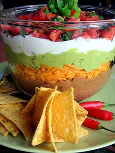 Mexican Five Layer Dip - Pinterest Party Dish
