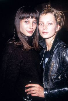 CHRISTY TURLINGTON AND KATE MOSS | 1994 CA. http://kate-jam-and-diamonds.tumblr.com/post/100242310528/with-christy-turlington-c1994