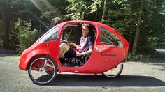 "Perhaps you're one of those people who doesn't own a car, but who sometimes needs a vehicle that's a bit ""more"" than a bicycle. If you are, then Massachusetts-based better.bike has what you might be looking for. The company's fully-enclosed pedal-electric PEBL velomobile features some automobile-like amenities, while still being legally classified as an electric bicycle."