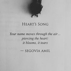 """""Heart's Song"" written by Segovia Amil"