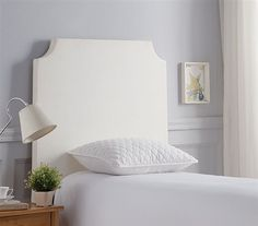 Dorm Headboard for Twin XL Sized Bed DIY White College Headboard with Beveled Double Curve Stylish Dorm Room Decor College Dorm Bedding, College Dorm Rooms, Over The Top, Faux Headboard, Panel Headboard, Double Headboard, Inspiration Room, Dorm Room Headboards, Room Decor For Teen Girls