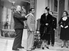 "Jean Renoir, Marcel Dalio, Nora Gregor, Marcel Meral, and Paulette Dubost, during the filming of ""La Règle du Jeu"" (Sam Lévin, 1939)"