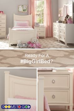Your little one isn't so little anymore, and that means it's time for a #biggirlbed! Simple yet elegantly designed, the Jaclyn Place bed is both stylish and affordable.