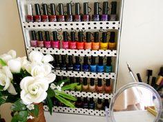 nail polish rack DIY