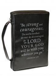 BIBLE/ BOOK CASES:  BE STRONG AND COURAGEOUS (BBL510). Available from CUM Books in South Africa.