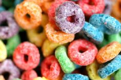 BEST DESSERT EVER!!!  so i basically replaced the ricecrispys with more fruitloops and i know it says vanilla is optional but its not! haha   8 tbsps butter (1 stick) 16 ozs marshmallows (8 1  2 to 9 cups) 51  2 cups rice krispies  51  2 cups fruit loops (cereal) 1 tsp vanilla (optional)