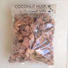 "Coconut Husk coir fiber for Orchids flower tree plant 1/2"" - 2""  4l Grow Medium"