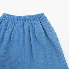 gauze skirt / indigo