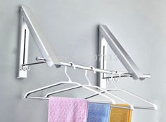 Online Shop Bathroom Balcony Invisible Folding Retractable Wall Mounted  Clothesline Laundry Hanger Space Aluminum Clothes Drying