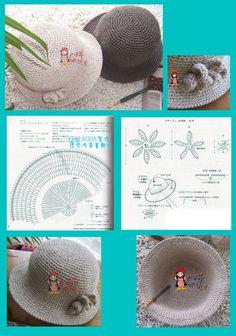 New Crochet Summer Scarf Pattern Spring 35 Ideas Crochet Hat With Brim, Crochet Summer Hats, Crochet Beanie, Crochet For Kids, Free Crochet, Knitted Hats, Crochet Hats, Diy Crafts Crochet, Crochet Projects