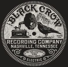 For this I would take elements of this. I'd exchange the black crow for 2 white doves as a visual analogy of you 2 guys. I'd also change the fonts to a more friendly and approachable look. The Crow, Record Label Logo, Crow Art, Crows Ravens, Vintage Records, Logo Design, Branding Design, Vintage Typography, Vintage Labels