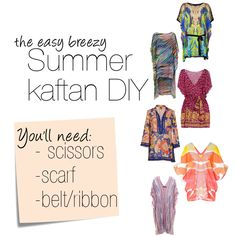 Thursday DIY | Summer kaftan DIY For Mommoms scarves!?!?