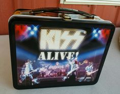 KISS ALIVE 1976 Concert Embossed Metal Lunchbox w/ Thermos UNUSED 2001