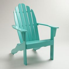 One of my favorite discoveries at WorldMarket.com: Baltic Blue Classic Adirondack Chair