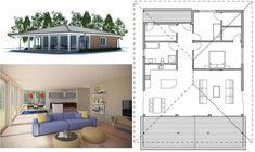 Фото и план расположения комнат одноэтажного дома