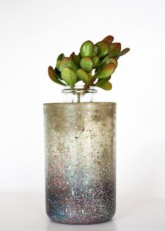 Handmade & Painted Galaxy  glass vase urban by zinandbert on Etsy, $60.00